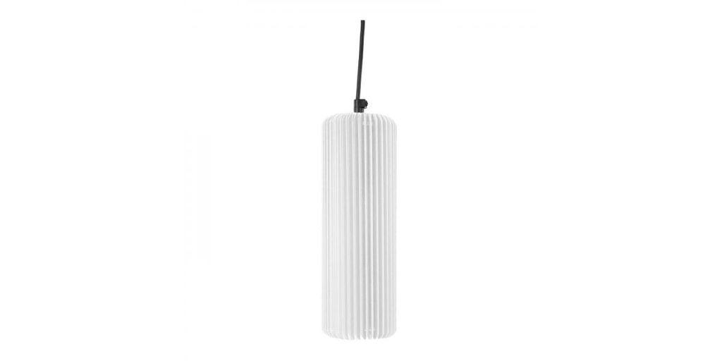 Exkluzív függesztett mennyezeti lámpa, 25 cm, cső alakú, fehér - FUSEAU
